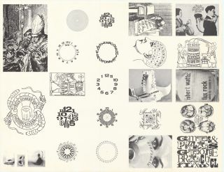 Proof sheet of Maciunas designs for Fluxus labels.] Poster. George. Fluxus Maciunas