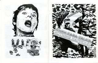 Men in black. [Neo-Roc International mail art exhibition at the Fort Mason Armory Show, Feruary 1-28, 1982]
