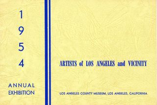Artists of Los Angeles and vicinity: 1954 annual exhibition. Los Angeles County Museum.
