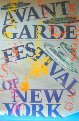 Annual New York Avant Garde Festival [title varies]. Complete set of 19 vintage posters, 1963-1980