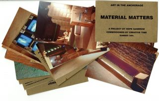 Material Matters: art in the Anchorage. Inscribed