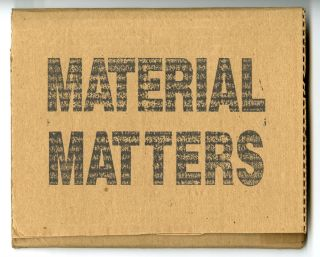 Material Matters: art in the Anchorage. Inscribed. Hope Sandrow