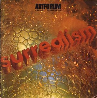 Artforum, volume V [5], number 1, September 1966. Surrealism issue, with cover design by Edward...