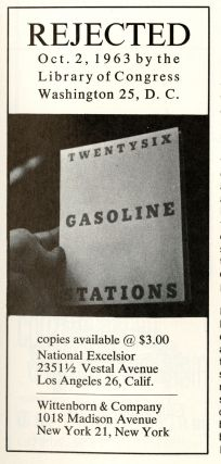 Artforum. March 1964, volume 2, number 9. Twentysix Gasoline Stations. With facsimile of Library of Congress letter rejecting the book