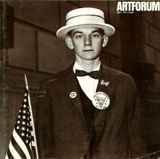 Artforum, volume IX (9), number 1. May, 1971. Cover by Diane Arbus. Diane Arbus, Philip Leider, ed