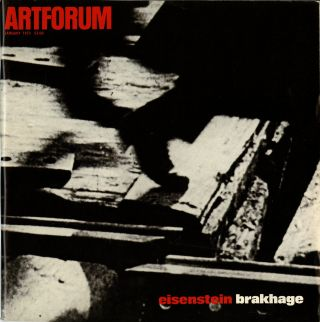 Artforum: Eisenstein Brakhage issue. January 1973, volume 11, number 5. John. Michelson Coplans, Annette.