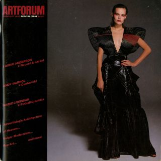 Artforum. Volume XX (20), number 6, February 1982. Special issue with record by Laurie Anderson....