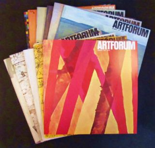 Kaltenbach's 12 anonymous Conceptual advertisements in Artforum, Nov. 1968 through Dec. 1969....