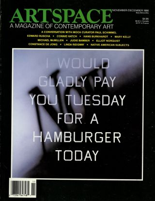 Artspace: a magazine of contemporary art Vol. 15, no. 1, November-December 1990. Edward. Peterson...