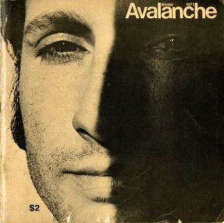 Avalanche number 2. Winter 1971. Elizabeth Bear, pub, Willoughby, ed. Sharp.