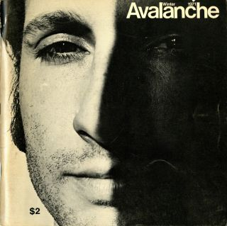 Avalanche number 2. Winter 1971. Elizabeth Bear, pub, Willoughby, ed. Sharp