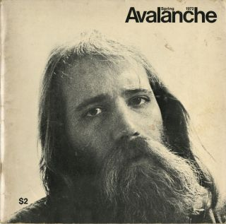 Avalanche number 4. Spring 1972. Elizabeth Bear, pub, Willoughby, ed. Sharp