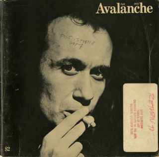 Avalanche number 6. Vito Acconci. Fall 1972. John Baldessari's copy. Elizabeth Bear, pub,...