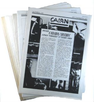 Cairn: journal d'un cooperative d'artistes. Nos. 1-8 (all published). Paris Cairn, complete set.