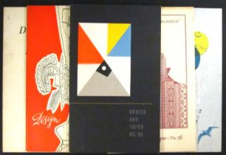Design and paper. Numbers 23, 29, 30, 36, 37. McKnight Kauffer, Saul Steinberg, Albert Schiller