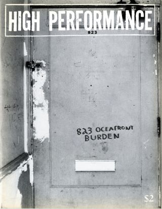 High performance: the performance art quarterly. Issue no. 5, volume 2, number 1, March 1979....