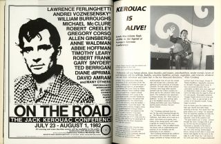 Kerouac is Alive! Article in High Performance: the performance art quarterly. No. 19, vol. 5, no. 3, 1982
