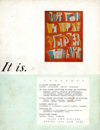 It is: a magazine for abstract art [title varies]. Complete set: nos. 1-6. Sebastian. Pavia...
