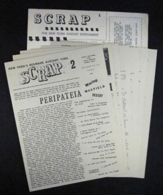 Scrap: the New York Sunday supplement [subtitle varies], Nos. 1-8, December 9, 1960 through June 14, 1962. An exceptionally rare complete set. Sidney Geist, Anita Ventura, eds.