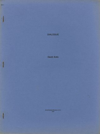 Dialogue [cover title]. David Antin