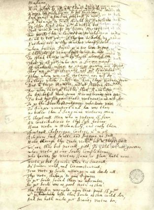 John Donne's holograph of 'A Letter to the Lady Carey and Mrs Essex Riche'. [A facsimile.]