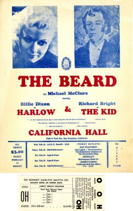 The Beard PLUS Small poster for performances at California Hall in February, 1967. Michael McClure