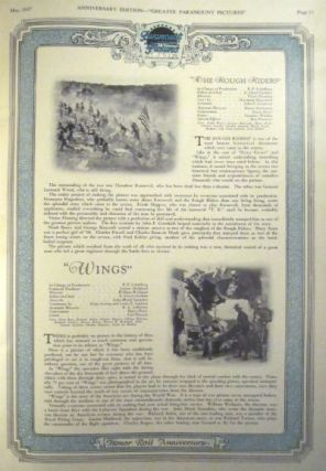 Greater Paramount Pictures 1927. Vol.II, no. 1. Honor Roll Anniversary. May 1927