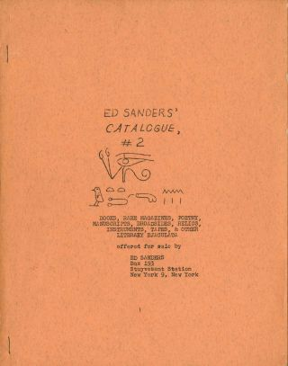 Ed Sanders' catalogue, #2: books, rare magazines, poetry, manuscripts, broadsides, relics,...